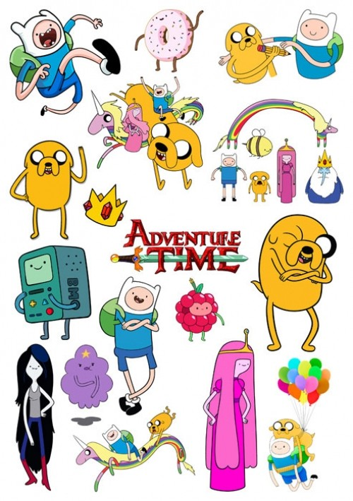 Наклейки Adventure Time with Finn & Jake No.1