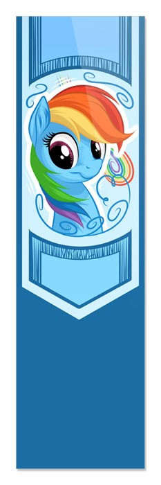 Закладка My Little Pony - Rainbow Dash