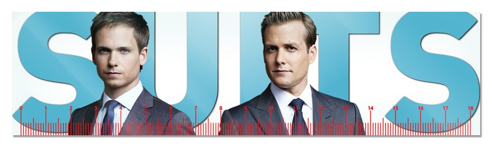 Линейка Suits Harvey Specter and Mike Ross