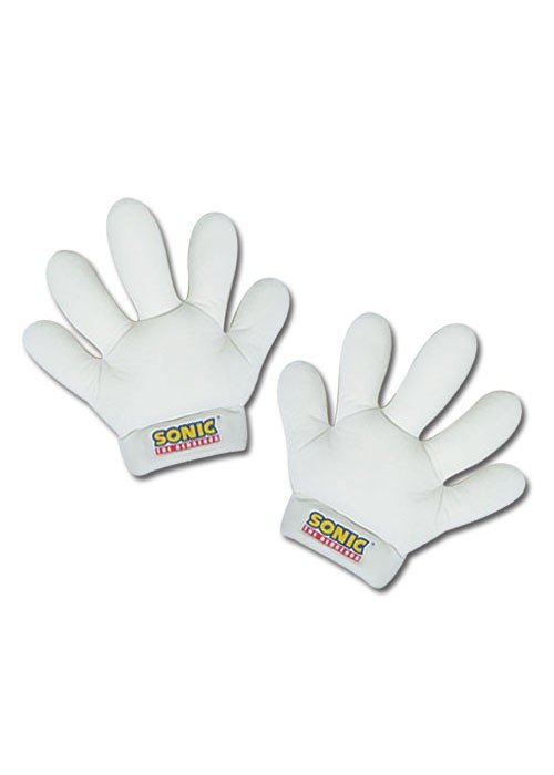 Фотография большая Перчатки Gloves: Sonic X - Sonic/Tails White Hands Plush (Set of 2) GE8805 из аниме и манги Sonic / Соник