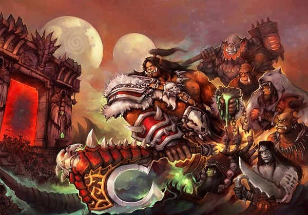 Плакат бумажный World of Warcraft Warlords of Draenor