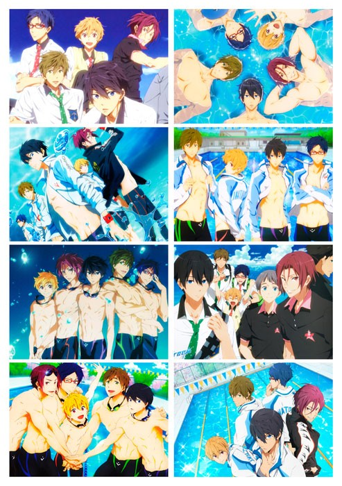 Наклейки Free! Iwatobi Swim Club No.1