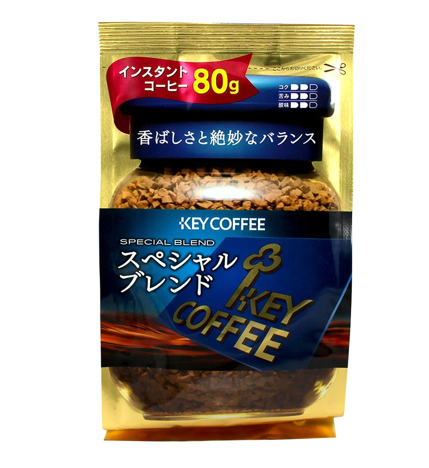 "Кофе ""Key Coffee"" Растворимый ""Special Blend"" (Синий) Пакет 80 г."