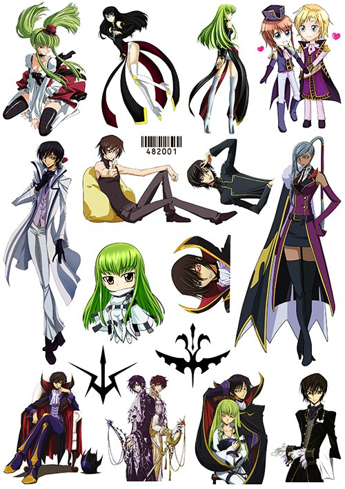 Наклейки Code Geass No.1