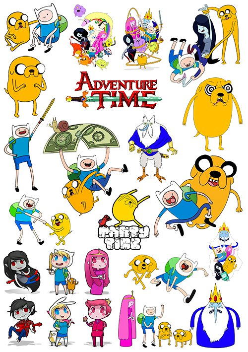 Наклейки Adventure Time with Finn & Jake No.2
