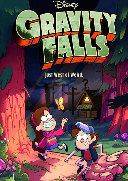 Плакат бумажный Gravity Falls Just West of Weird