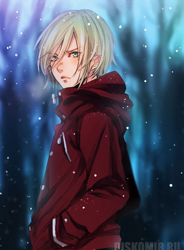 Плакат бумажный Yuri!!! on Ice - Yuri Plisetsky Winter