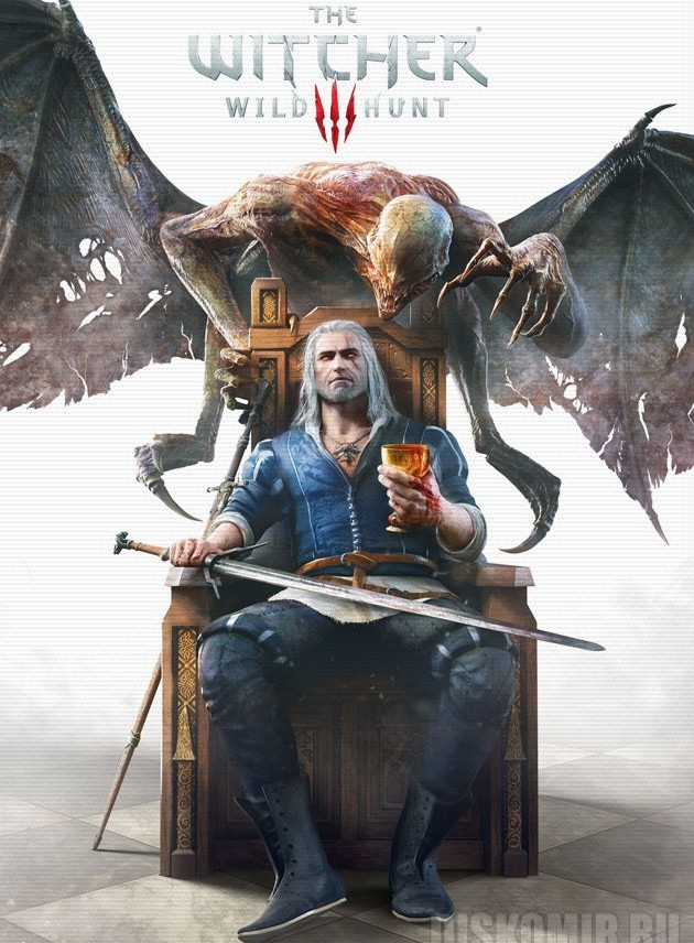 Плакат бумажный The Witcher 3 Wild Hunt Blood and Wine
