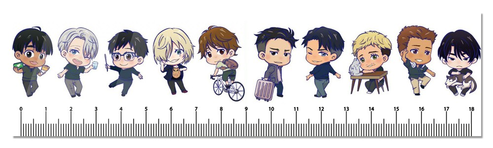 Линейка Yuri!!! on Ice chibi