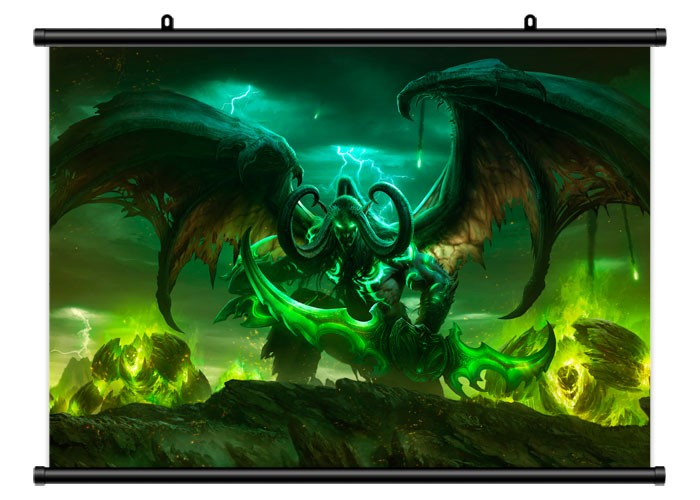 Плакат тканевый World of Warcraft Illidan Stormrage