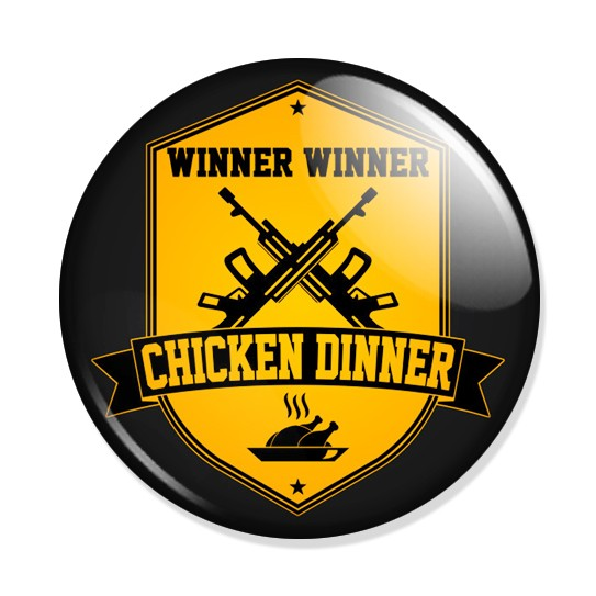 Фотография большая Значок Winner Winner Chicken Dinner из аниме и манги PlayerUnknown's Battlegrounds / PUBG ***
