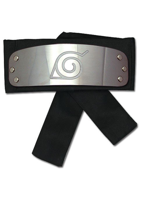 Фотография большая Headband: Naruto Shippuden - Konoha (Leaf) Naruto (Black Version)  GE8676 из аниме и манги Naruto / Наруто