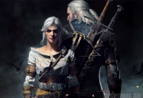 Плакат бумажный The Witcher 3 Wild Hunt Geralt and Ciri