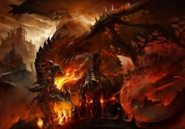 Плакат бумажный World of Warcraft Deathwing the Destroyer