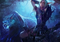 Плакат бумажный World of Warcraft Night Elf Huntress
