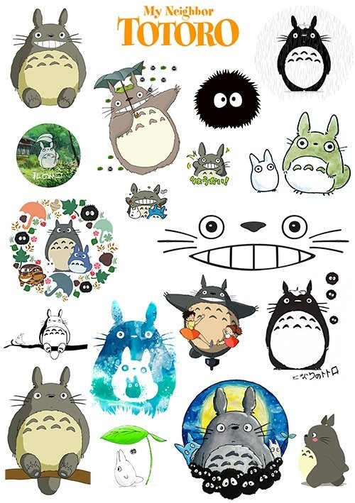 Наклейки My Neighbor Totoro No.1