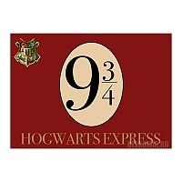 Плакат бумажный Harry Potter Hogwarts Express Platform 9 3/4