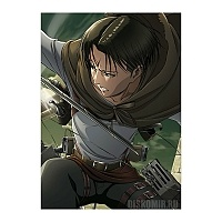 "Плакат бумажный ""Attack on Titan"" Levi Ackerman"