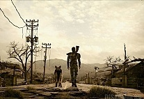 Плакат бумажный Fallout 3 Lone Wanderer and Dogmeat