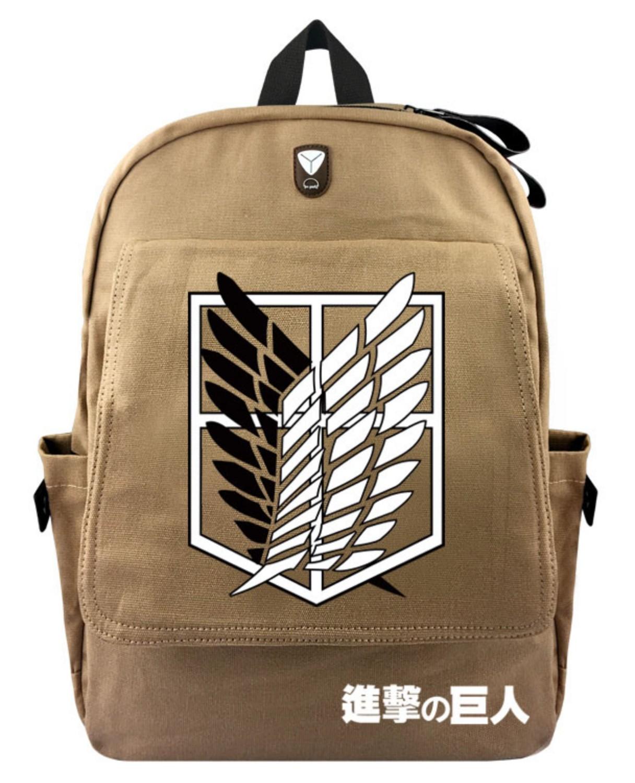 Рюкзак с логотипом из аниме Атака титанов