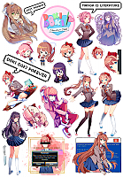 Наклейки Doki Doki Literature Club! No.2