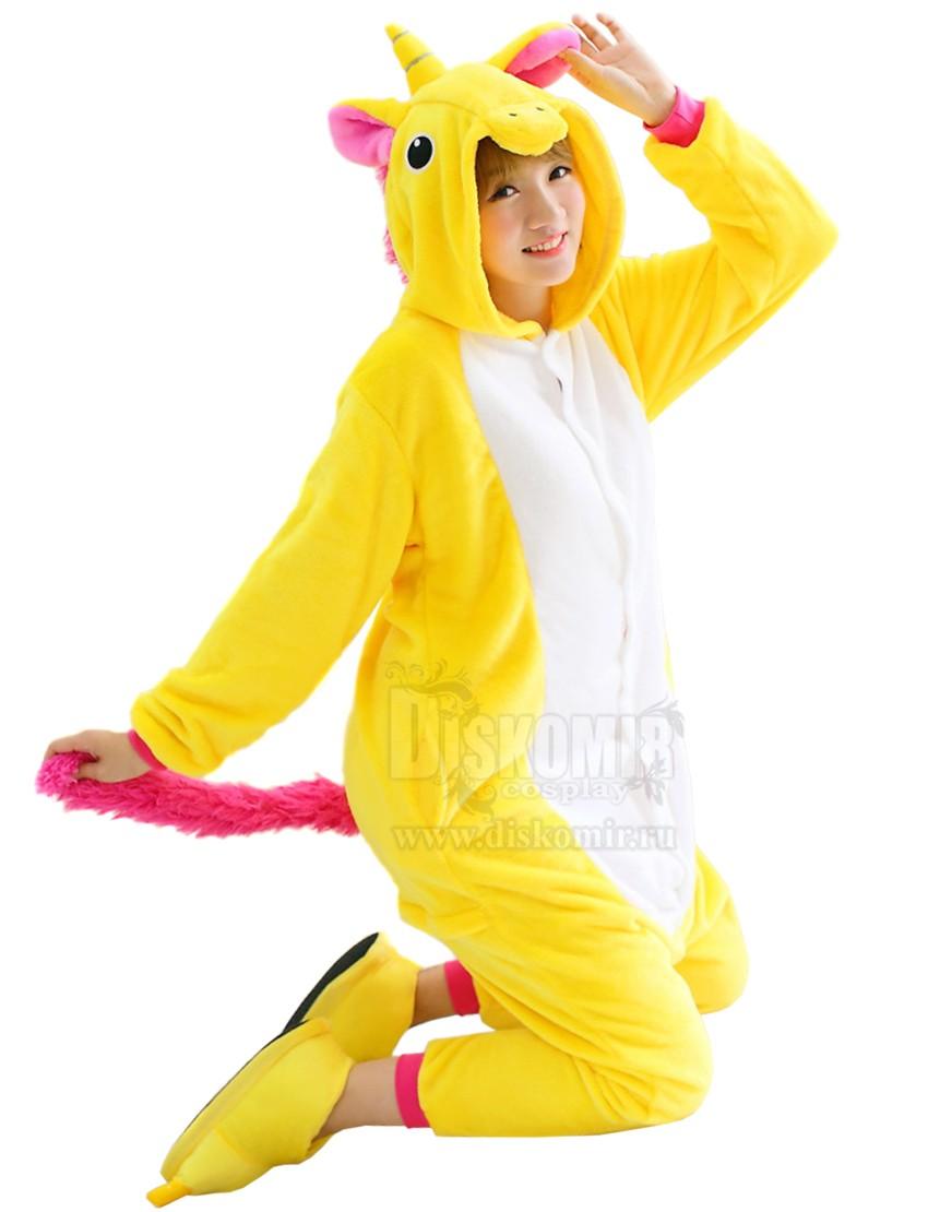 288d2c4c9719 Фотография большая Кигуруми Единорог Желтый / Kigurumi Yellow Unicorn из  аниме и манги Кигуруми