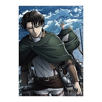 "Плакат бумажный ""Attack on Titan"" Levi Ackerman и Erwin Smith"