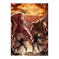 "Плакат бумажный ""Attack on Titan"" Reiner Braun vs Eren Yeager"