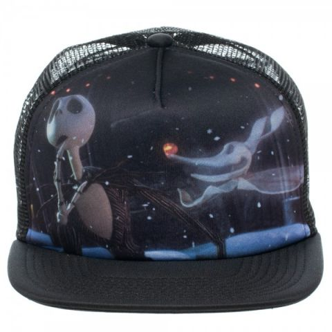 Фотография большая Бейсболка Cap: Nightmare Before Christmas - Jack and Zero Foam Trucker BA151HNBC из аниме и манги The Nightmare Before Christmas / Кошмар перед Рождеством ***