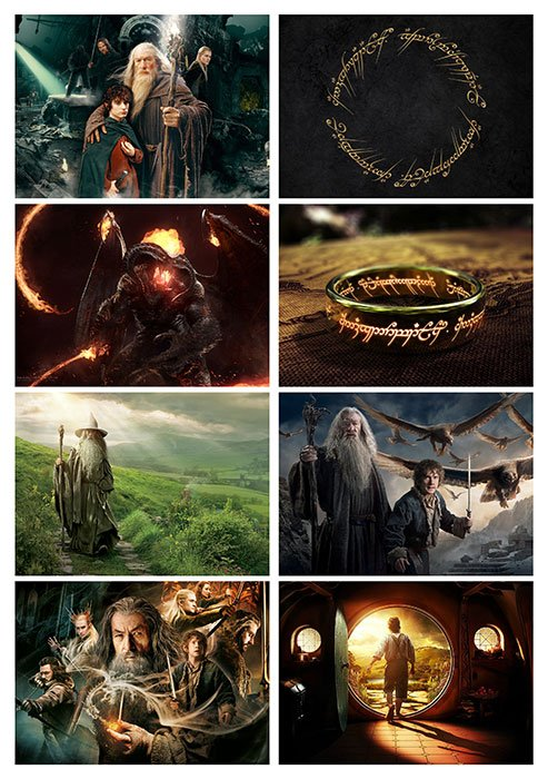 "Стикеры виниловые ""The Lord of the Rings"" No.3"