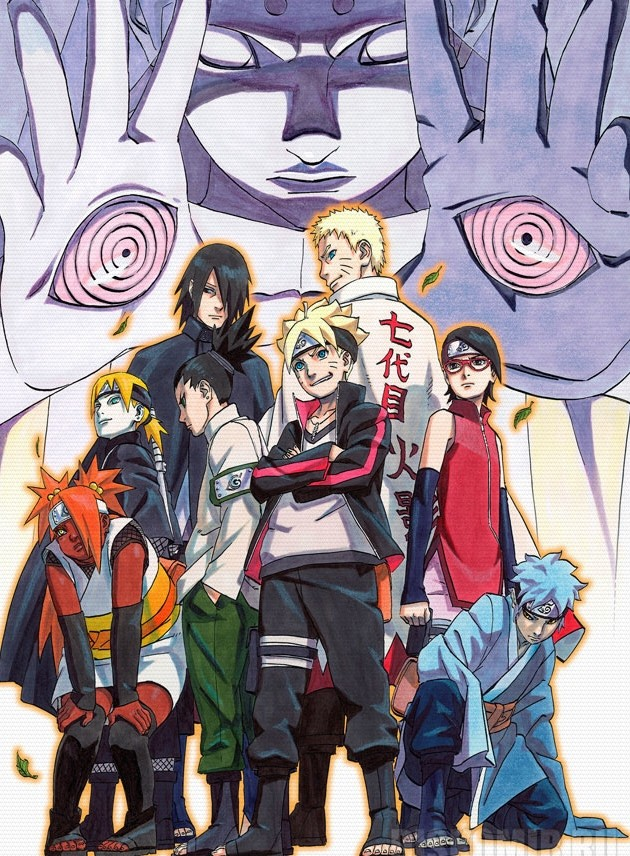 Плакат бумажный Boruto: Naruto Next Generations Group