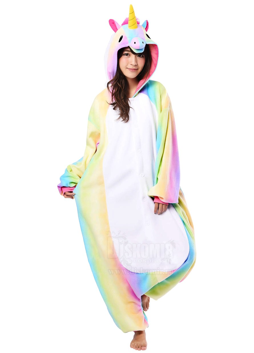 Фотография большая Кигуруми Единорог Радужный   Kigurumi Rainbow Unicorn из  аниме и манги Кигуруми 814adc6b387ba