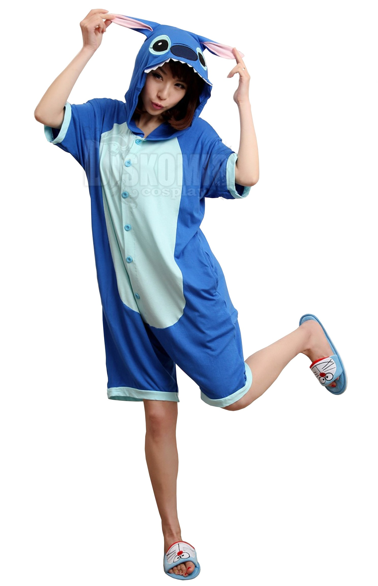 Фотография большая Кигуруми Летнее Стич Голубой Хлопок   Kigurumi Summer  Cotton Blue Stitch из аниме и 6d06357acc99a