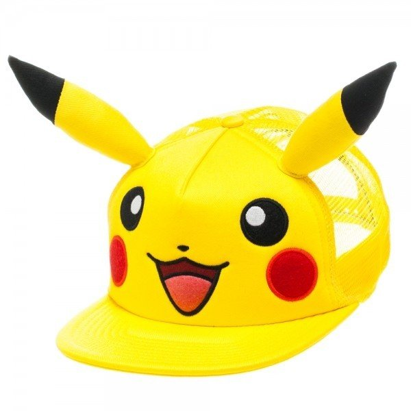 Фотография большая Бейсболка Cap: Pokemon - Pikachu Big Face with Ears из аниме и манги Pokemon / Покемон