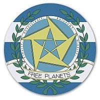 Коврик для мышки круглый The Legend of the Galactic Heroes - Free Planets Alliance