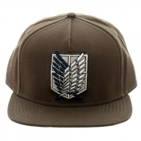 Фотография большая Бейсболка Cap: Attack on Titan - Scout Canvas Brown Snapback SB3ZGFATN из аниме и манги Shingeki no Kyojin / Attack on Titan / Вторжение гигантов / Атака титанов