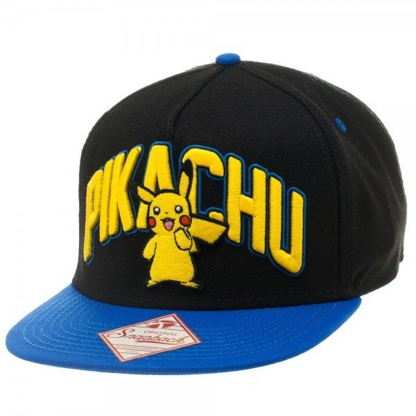 Фотография большая Бейсболка Cap: Pokemon - Pikachu Blue/Gold Snapback  из аниме и манги Pokemon / Покемон