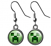 "Серьги ""Minecraft"" Creeper"