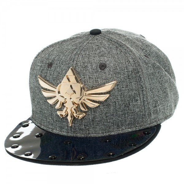 Фотография большая Бейсболка Cap: Zelda - Skyward Sword Metal Triforce Gray Flatbill из аниме и манги The Legend of Zelda / Легенда о Зельде ***