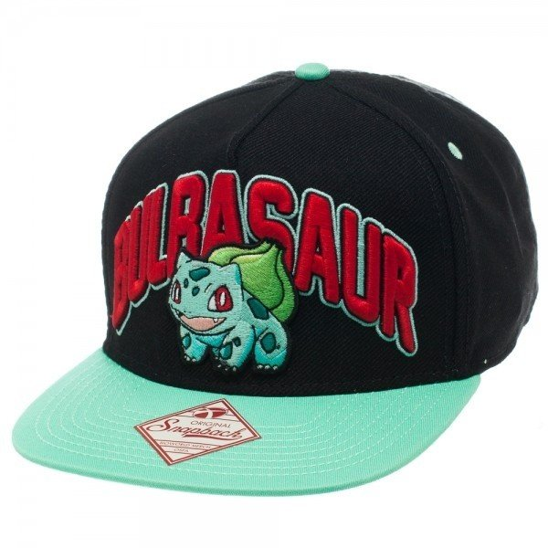 Фотография большая Бейсболка Cap: Pokemon - Bulbasaur Black Snapback из аниме и манги Pokemon / Покемон