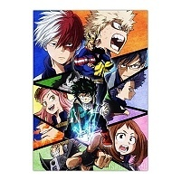 Плакат бумажный Boku no Hero Academia 2nd Season