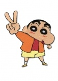Нашивка самоклеющаяся Patch: Crayon Shin-chan - Peace Out  GE4204
